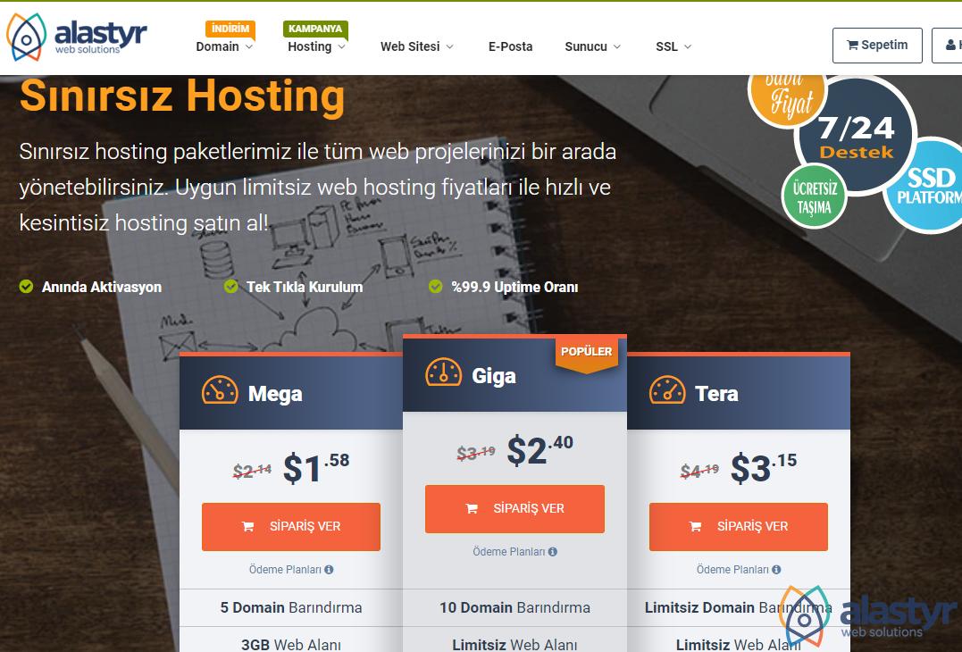 Payaşımlı Web Hosting